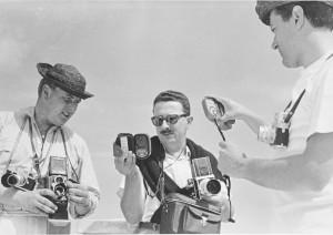 Da sinistra: Angeloni, Piergiovanni e Bruno a Portonovo (estate 1960)